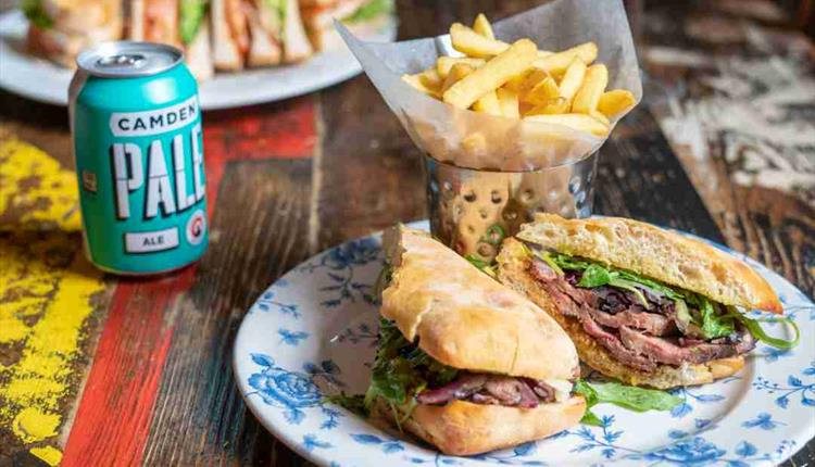 Tasty steak sandwich at the Cosy Club in Bournemouth
