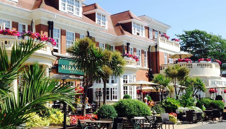 The front of the glorious Hotel Miramar in Bournemouth