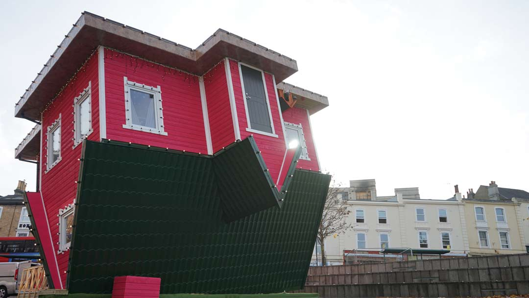 Upside Down House in Bournemouth's Triangle