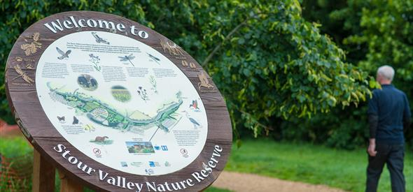 Stour Valley nature reserve sign