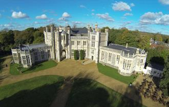 Aerial shot of the illustrious castle.