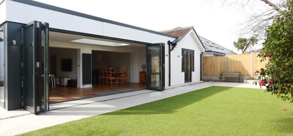 Exterior garden with bifold doors