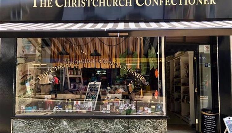 Front window of the Christchurch confectioner shop