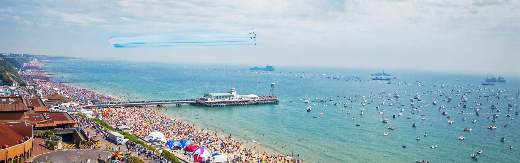 Great events in Bournemouth all year round! Visit the famous Bournemouth Air Festival