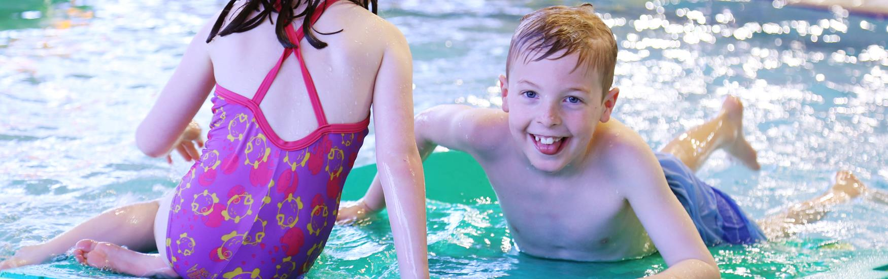 Children swimming in the pool at Littledown Leisure Centre