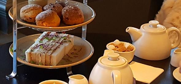 Brasserie Blanc cream tea at the Highcliff Marriott