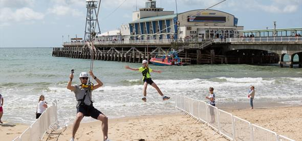 Bournemouth-Beach-Pier-To-Shore-Zipline-Activity