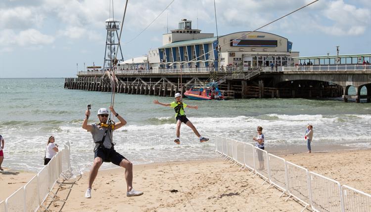 Bournemouth Beach Pier To Shore Zipline Activity