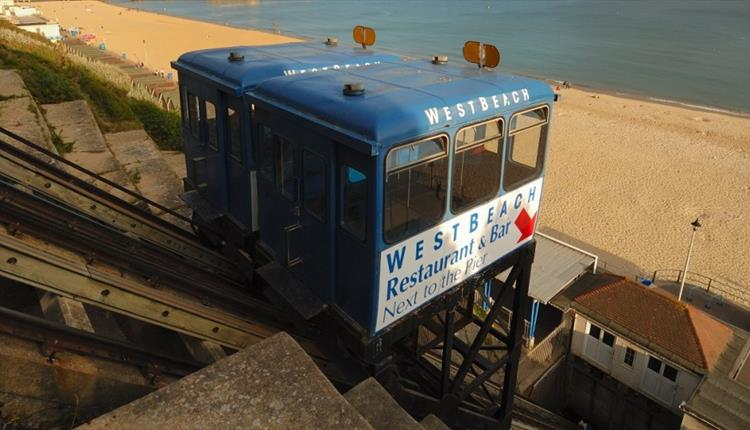West Cliff Lift over Seafront in Bournemouth