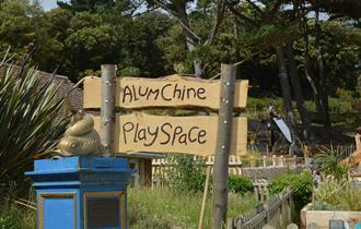 Alum Chine Play Park sign