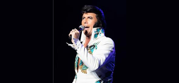 Elvis lookalike singing