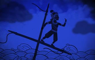 Thai folk tale with blue background