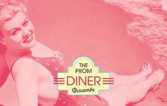 Prom Diner branding image pink with logo
