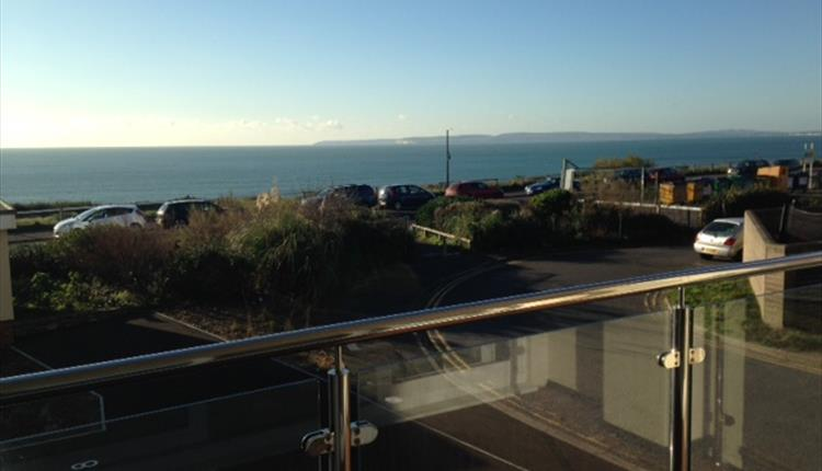 Incredible views of the sea and coastline from the rooms balcony