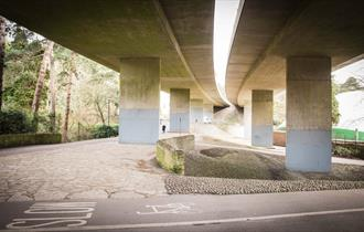wide shot of the site location under the wessex way