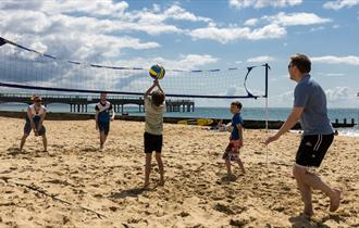 Volleyball at Boscombe beach