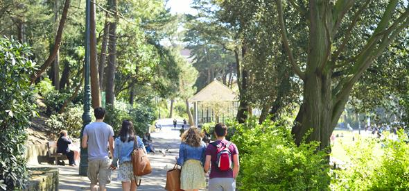 Bournemouth Lower Gardens People Walking through