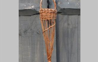 photo of a willow bird feeder