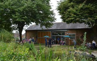 photo of the Kingfisher Barn Visitor Centre on a clear day